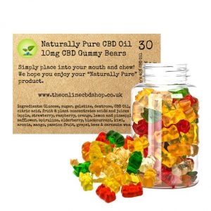 Naturally Pure CBD 10mg Gummy Bears