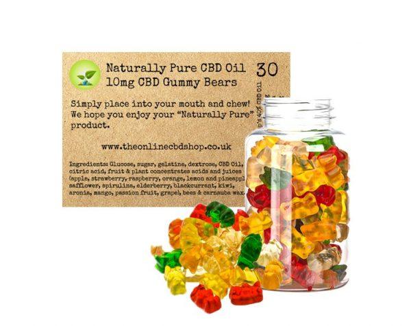Naturally Pure CBD 10mg Gummy Bears